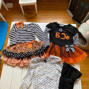 Girls Halloween Lot Sizes 2T-4T